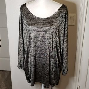 Women's Plus Size Black & Silver Sweater - Size 3X